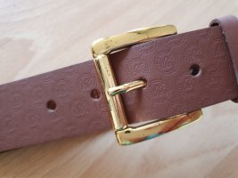 Michael Kors Leather Belt gold-colored-light brown