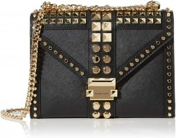 Michael Kors MK Whitney Crossbodybag Bag schwarz gold