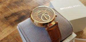 Michael Kors MK2424 Uhr Gold mit Cognac Lederband