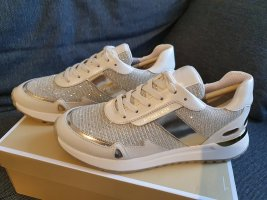 Michael Kors Monroe Trainer Glitter Chain Mesh pale gold sneaker Schuhe gr. 38,5