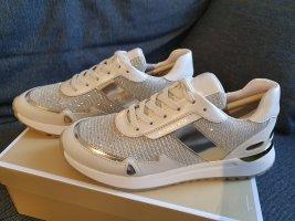 Michael Kors Monroe Trainer Glitter Chain Mesh pale gold sneaker Schuhe gr. 38