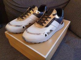 Michael Kors Monroe Trainer Multi silber gold weiß Sneaker gr. 37,5 Turnschuhe