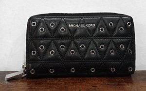 Michael Kors Portefeuille noir-argenté cuir
