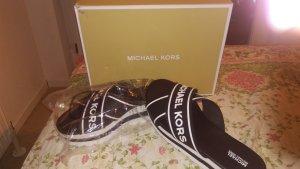 Michael Kors Sandales à talons hauts et plateforme noir