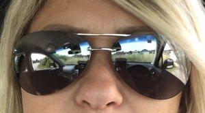 Michael Kors Gafas de piloto color plata