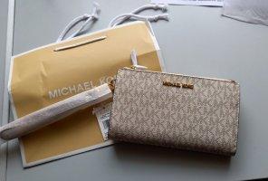 Michael Kors Portmonaie Double Zip Geldbeutel Vanilla PVC