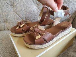 Michael Kors Riplay Sandal gr. 38,5 braun beige gold leder Sandalen Schuhe