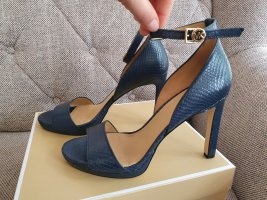 Michael kors Sandalen gr. 39 blau gold Sandaletten high heels pumps Stiletto riemchensandalen