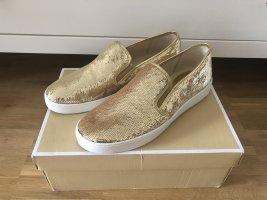Michael Kors Schuhe 41 gold Pailetten Slipper Sneaker Slipon