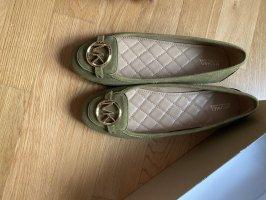 Michael Kors Schuhe Ballerina grün Leder Loafer