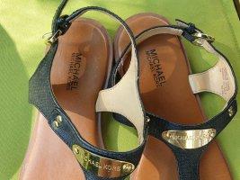 MICHAEL KORS schwarzes Leder Sandallen