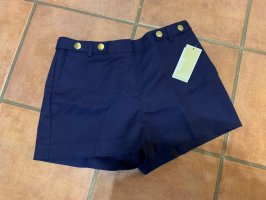 Michael Kors High-Waist-Shorts dark blue-gold-colored cotton