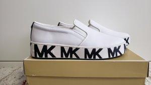 Michael Kors Pantoffels wit-zwart Nylon
