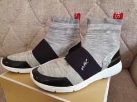 Michael Kors Sneaker gr. 40 Turnschuhe blogger high top grau schwarz rot