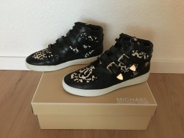 Michael Kors High Top Sneaker black-white leather