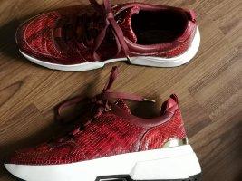 Michael Kors Sneaker Schuhe 38,5 hervorragend Animal Snake Stil Plateau Echt Leder