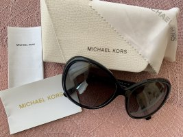 Michael Kors Oval Sunglasses black-gold-colored