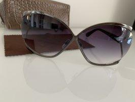 Michael Kors Hoekige zonnebril zilver-antraciet