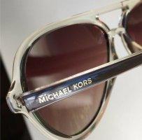 Michael Kors Aviator Glasses beige-cream