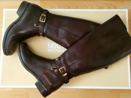 Michael Kors Riding Boots black brown-sand brown leather