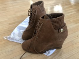 Michael Kors Wedge Booties bronze-colored suede