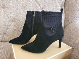 Michael Kors Stiefeletten neu gr. 39 Wild-leder schwarz high heels ankle boots