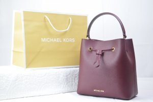 Michael Kors Suri Medium Bucket Bag in Merlot