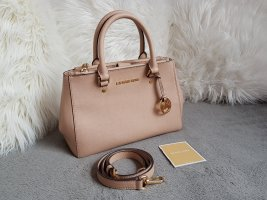 Michael Kors Sutton Small SM Blush Beige Nude Rosa Gold