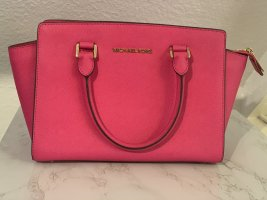 Michael Kors Carry Bag pink-raspberry-red leather