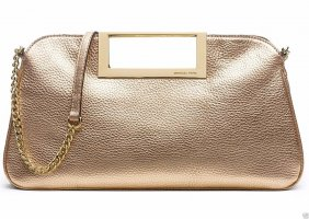 Michael Kors Tasche, Clutch BERKLEY Leder Pale Gold