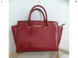 Michael Kors Carry Bag red leather