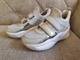 Michael Kors Turnschuhe KEELEY gr. 37 TRAINER silber grau weiß schuhe sneaker