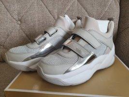 Michael Kors Turnschuhe KEELEY gr. 38,5 TRAINER silber grau weiß schuhe sneaker