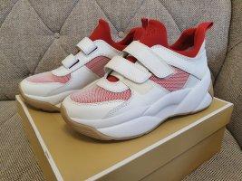 Michael Kors Turnschuhe KEELEY gr. 40 TRAINER weiß rot rosa schuhe sneaker