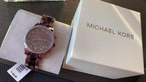 Michael Kors Reloj analógico violeta oscuro-color oro