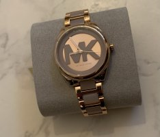 Michael Kors Zegarek z metalowym paskiem w kolorze różowego złota