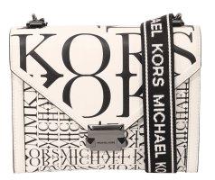 Michael Kors Umhängetasche in Schwarz / Weiß aus Leder