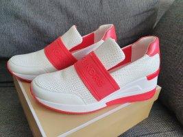 Michael Kors Vargas Trainer Optic white sneaker gr. 38,5 weiß rot Turnschuhe