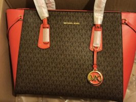 Michael Kors Shopper brun-rouge cuir