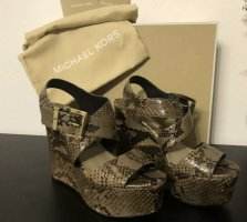 Michael Kors Wedges Python High Heels MK Snake Schlange Top Luxus Michael Michael Kors