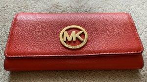 MICHAEL Michael Kors FULTON Geldbörse orange rot Leder Portemonnaie Brieftasche