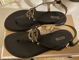Michael Kors Roman Sandals black-gold-colored