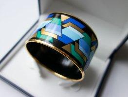 MICHAELA FREY WILLE Armreif Armband Geometrie Muster gold blau VINTAGE