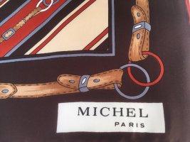 MICHEL PARIS SEIDENTUCH VINTAGE HAND-ROLLIERT