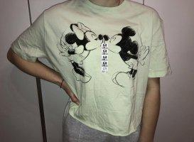 Bershka Camisa recortada multicolor