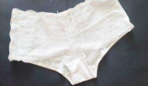 Microfaser Spitze Panty creme weiss Gr 38 Neu