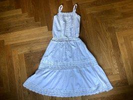 Midi-Dress aus Baumwolle und Häkelspitze