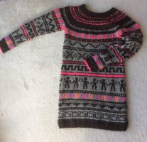 Robe en laine multicolore laine alpaga