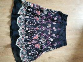 Esprit Spódnica midi czarny-różowy neonowy