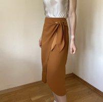& other stories High Waist Skirt cognac-coloured